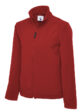 Classic Full Zip Soft Shell Jacket in Red